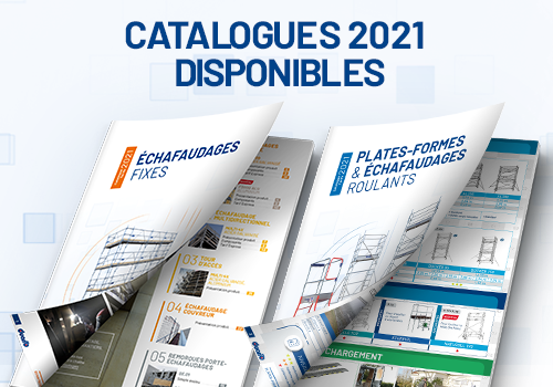 2021 editions of our catalogues/price-lists for platforms and scaffolding